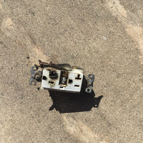 Burnt outlet we replaced