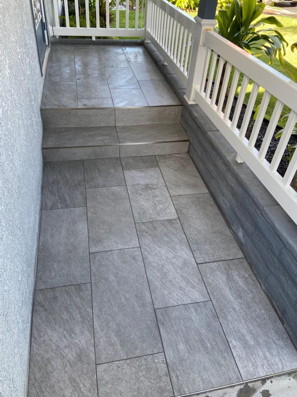 Porch Tile install