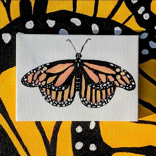 mini monarch (acrylic on canvas)