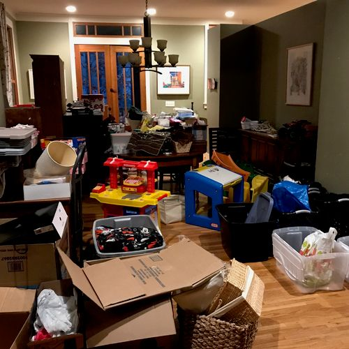 BEFORE - Declutter - Dining Room