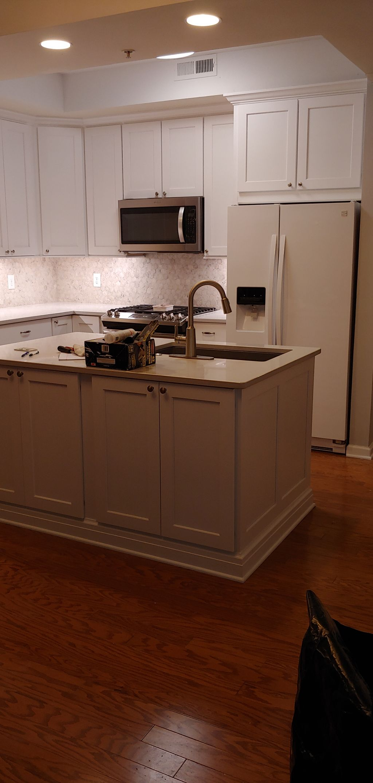 Cabinet installation,