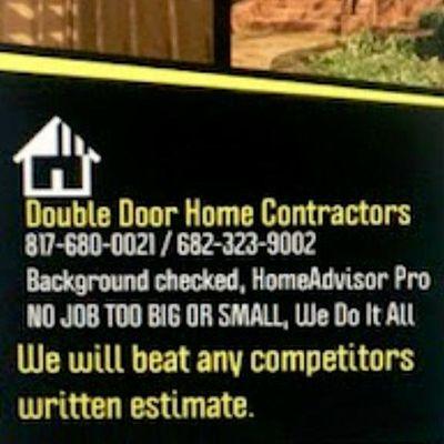 Avatar for Double Door Home Contractors Keller, TX Thumbtack