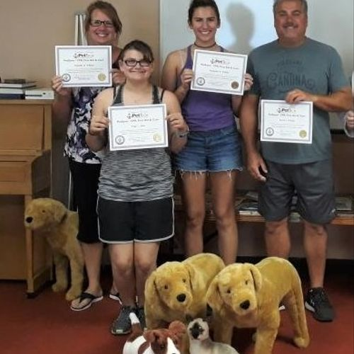 K9 Employees getting certified in Pet First Aid & CPR