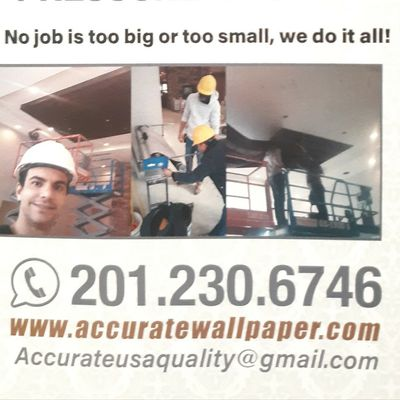 Avatar for ACCURATE WALLPAPERING, PAINTING, DRYWALL, DECAL