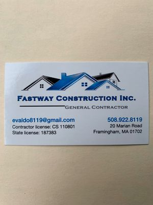 Avatar for Fastway construction inc Framingham, MA Thumbtack