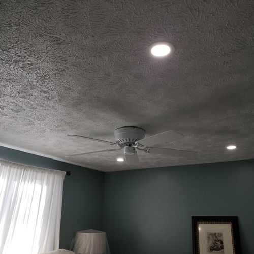 ceiling after fan and light install