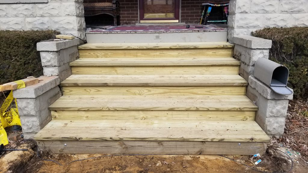 New Front porch stairs
