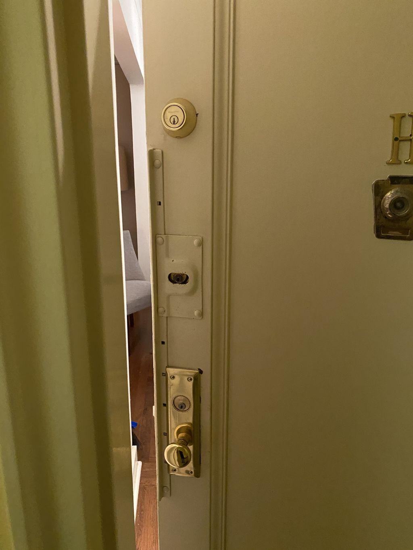 New mortise lock marks  and August deadbolt smart lock