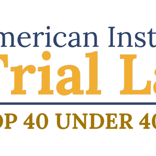 I was named a Top 40 Under 40 Attorney in Criminal Law by the American Institute of Trial Lawyers.