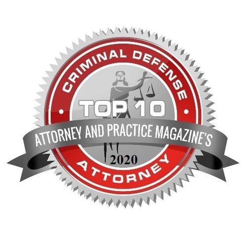 Recipient of Top 10 Criminal Defense Attorney from Attorney and Practice Magazine