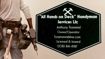Avatar for All Hands on Deck Handyman Services llc