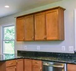 Kitchen Cabinets Replaced with Shelves
