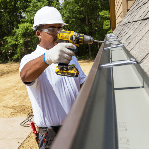 With a large variety of colors & materials, our teams create your custom-fit gutters on site, working efficiently on large & small projects.