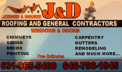 Avatar for J&D roofing and general contractors Center Moriches, NY Thumbtack