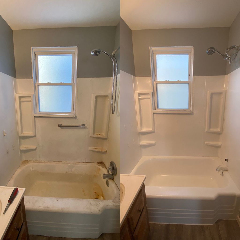 Bathtub and surround repair and refinished
