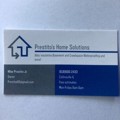 Avatar for Prestito's Home Solutions Collinsville, IL Thumbtack