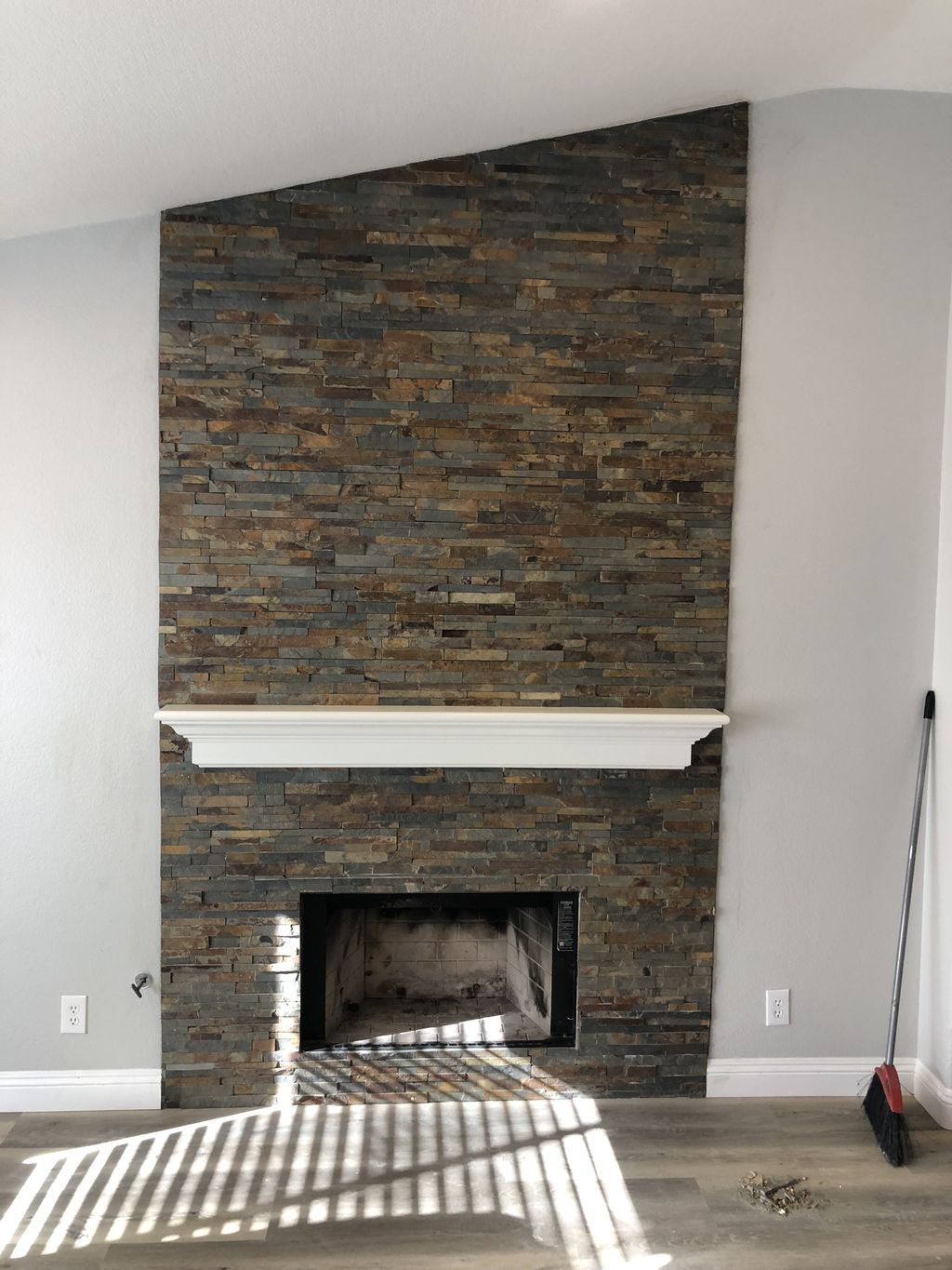 Fireplace with new Stone