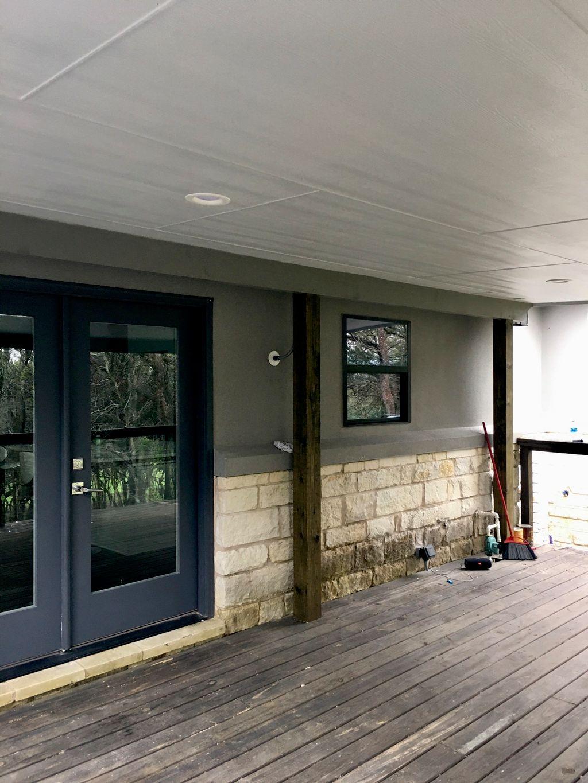Patio-roof overhang