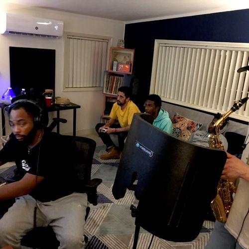 Tracking sax at 8ighth Wonder Studio