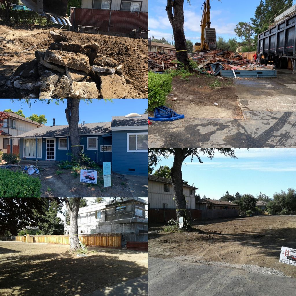 Complete house demolition