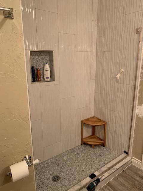 Shower Door and Tile