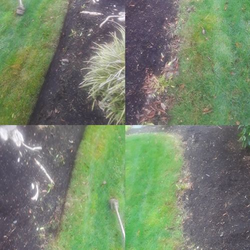 Just getting started with redefining these flower beds and giving the lawn a clean line