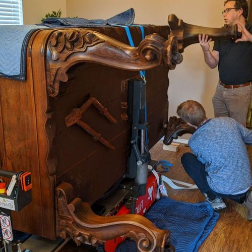 Moving An Antique Square Grand