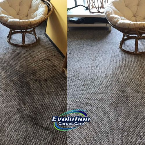 Carpet cleaning before & after. Carpet looks brand new after giving it a nice cleaning!