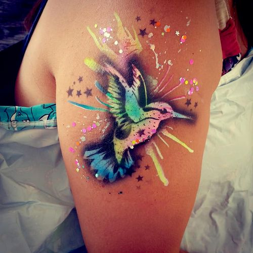 Alcohol-based airbrush tattoos and face painting are safe, longer lasting than traditional face painting, and loads of fun!