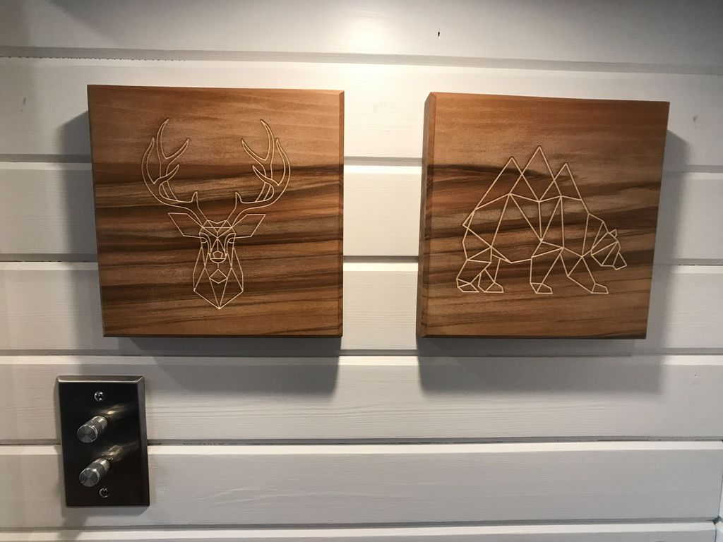 Engraved wood and coasters