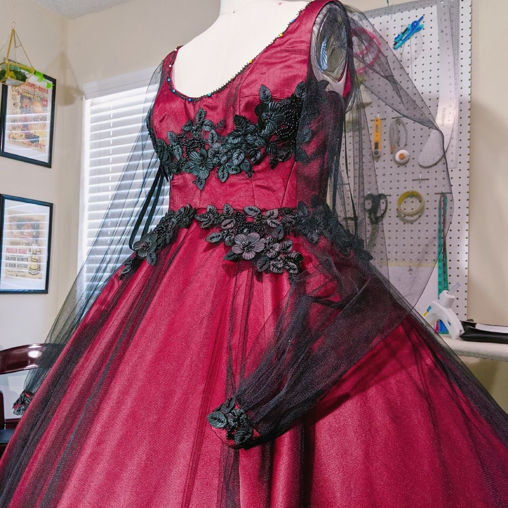 Victorian inspired ball gown