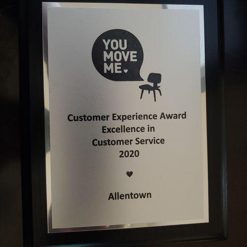 Customer Service Award 2020
