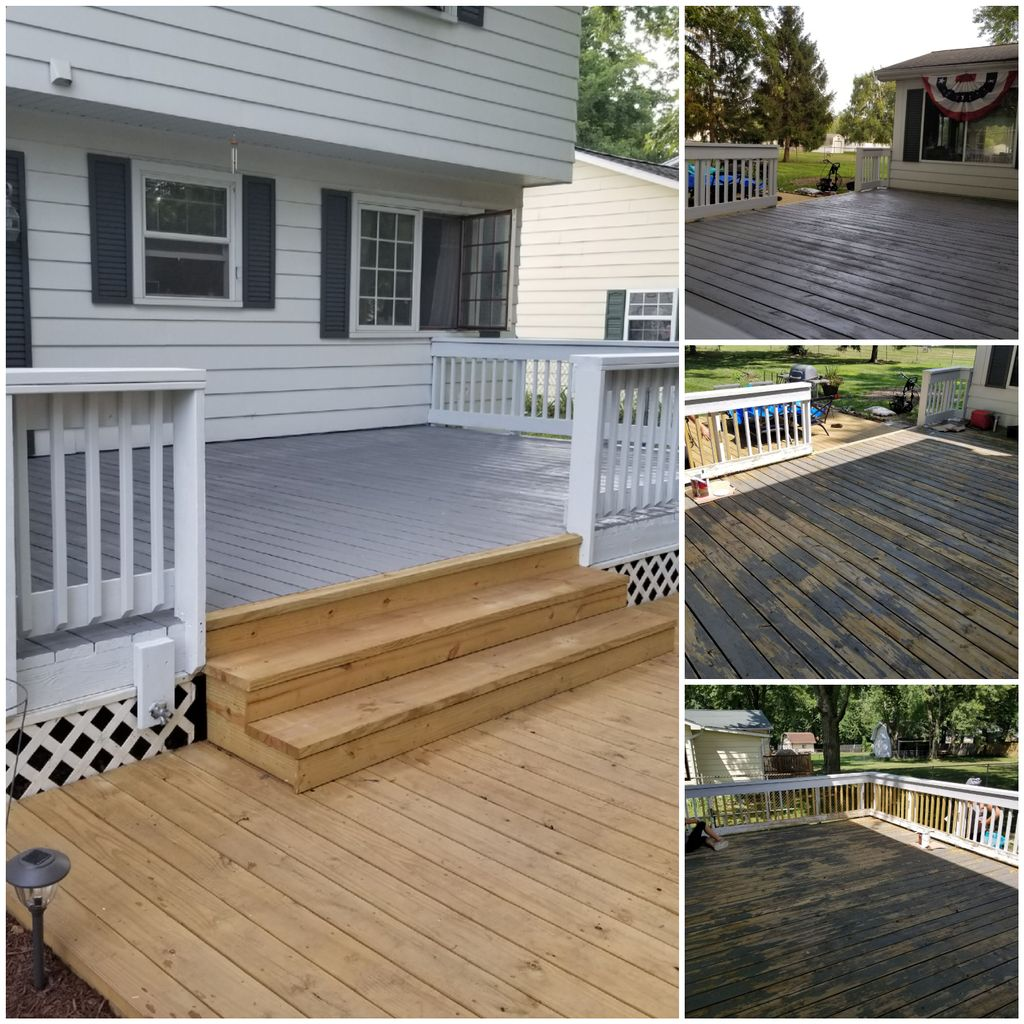 Refinishing a large deck