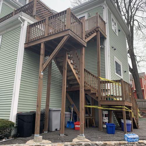 Melrose - Stairway & Roof Deck