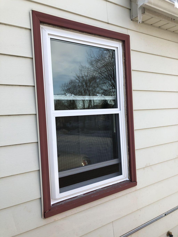 Vinyl Insert Windows with No aluminum wrap on exterior