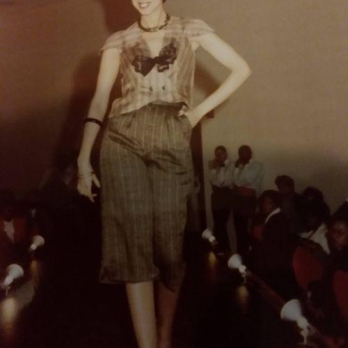 NAFAD Fashion Show-silk 2-piece