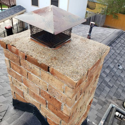 After: Chimney was pressure washed, and what a difference it made!