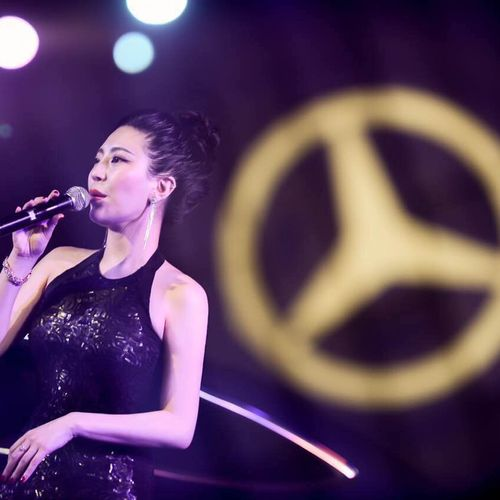 Performing at Mercedes Benz Event