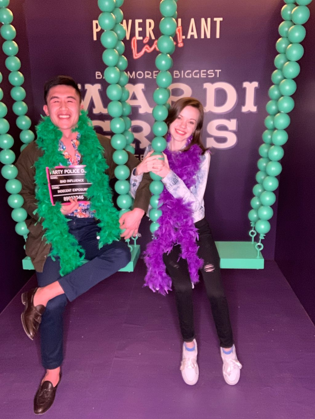 Mardi Gras Swing Activation at Power Plant LIVE