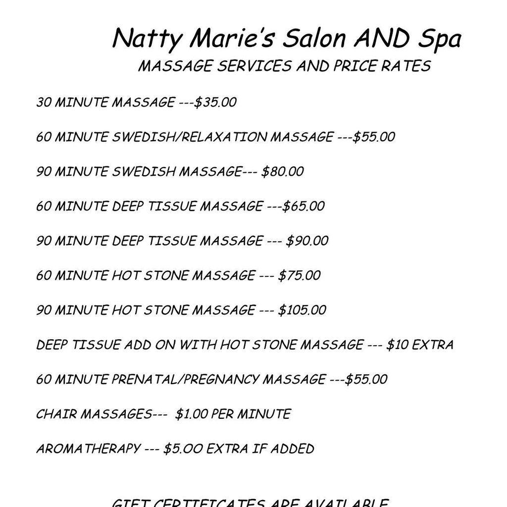 Caroline's Massages