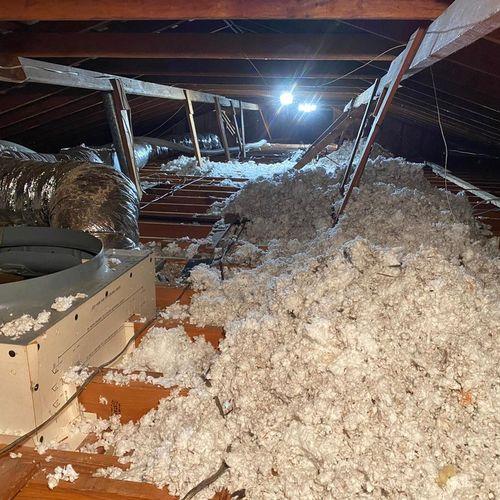 Attic insulation upgrade