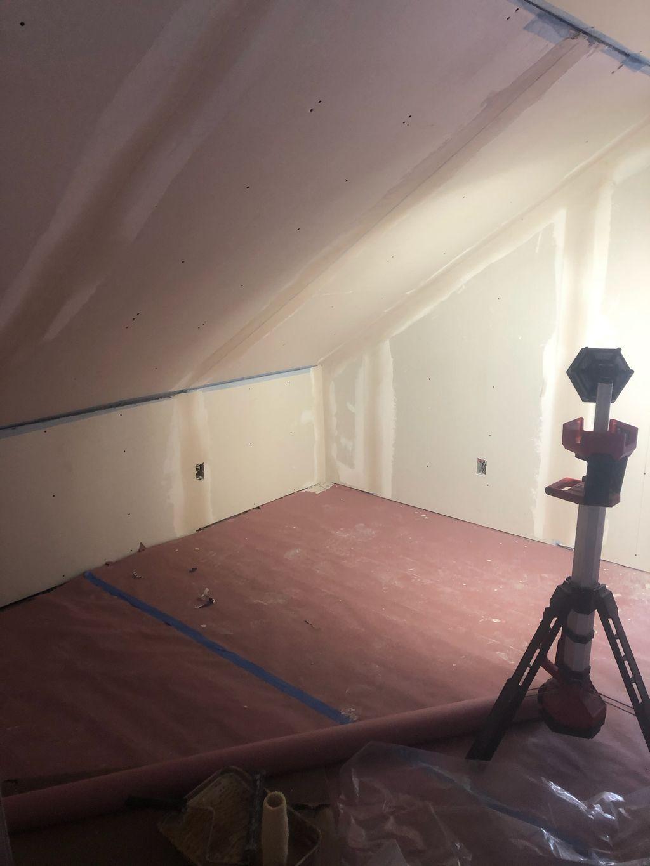 Plaster upstairs