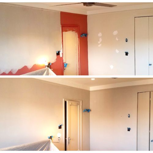 Bedroom painting project