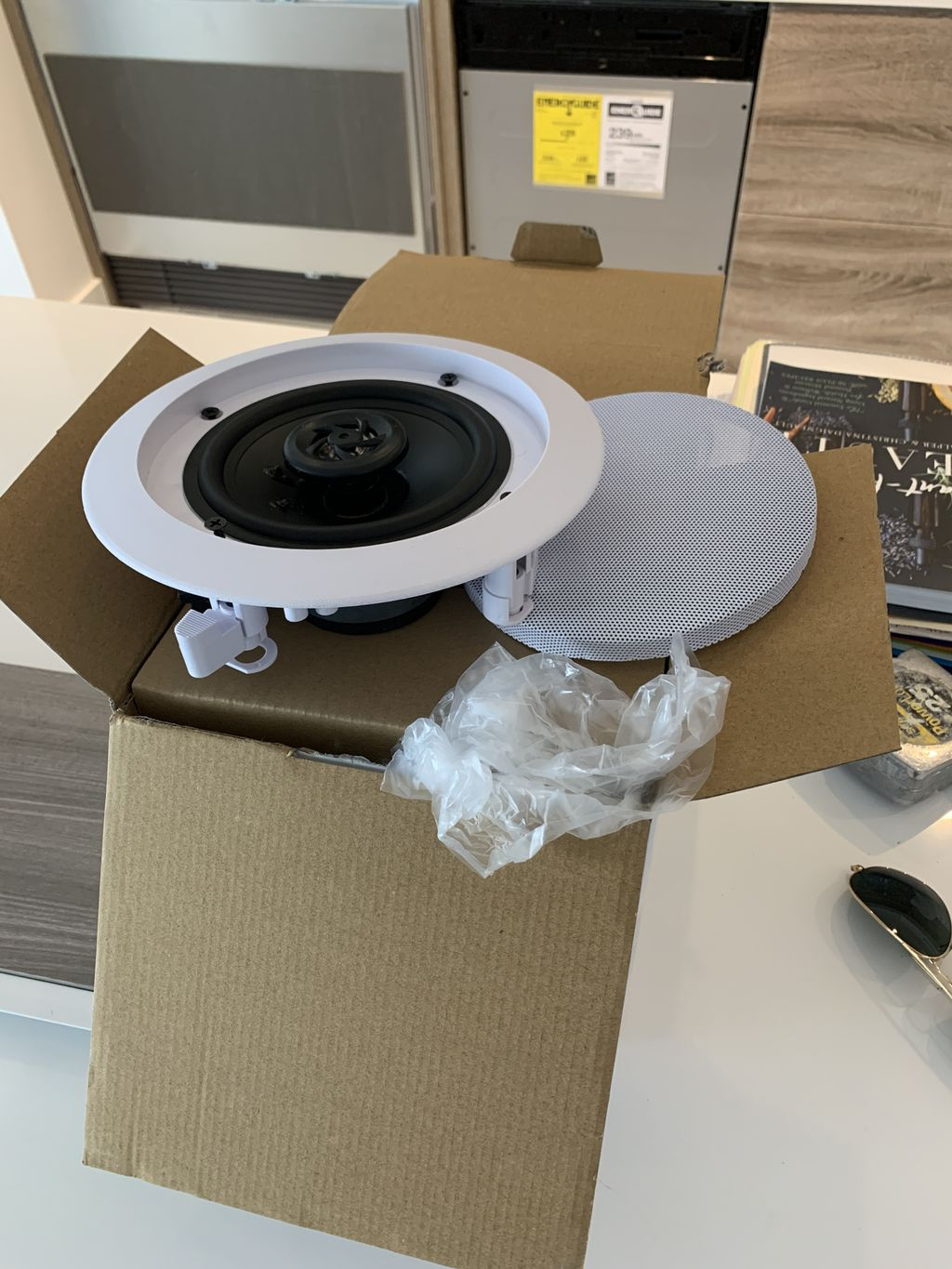 In Ceiling Speakers, Lights, and More