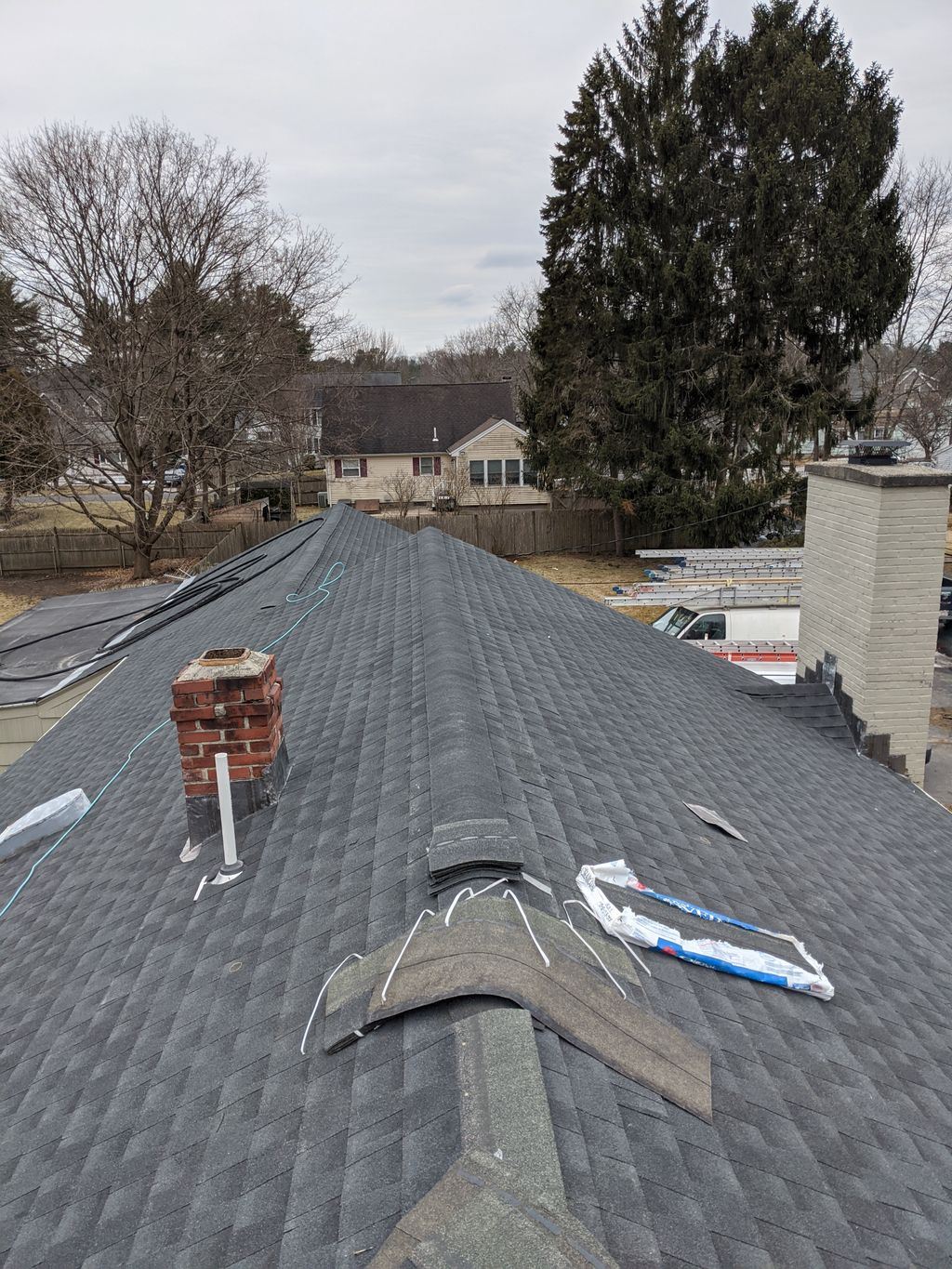 Full roof replacement with new chimney lead