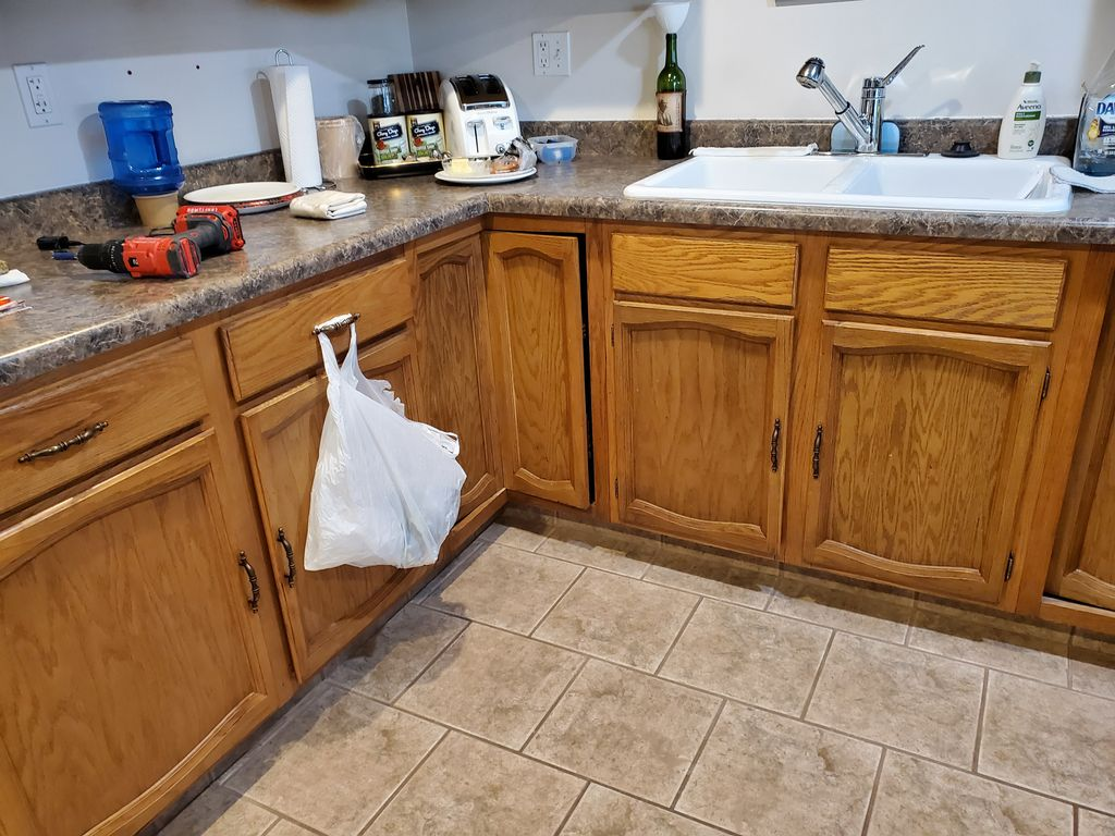 Complete repaint of cabinets