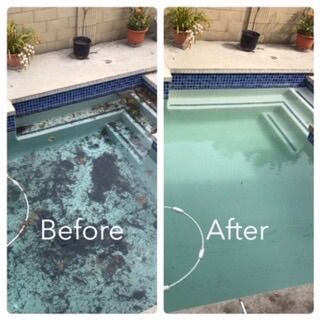 We Cleaning this pool in Huntington Beach 92646