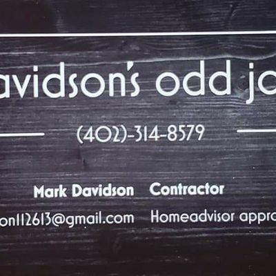 Avatar for Davidson's odd job's inc. Auburn, NE Thumbtack