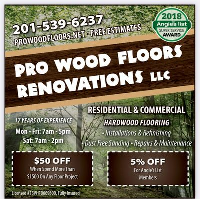 Avatar for Pro Woodfloors Renovations LLC Westfield, NJ Thumbtack