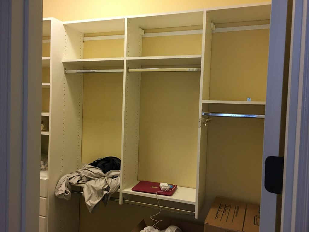 BEFORE AND AFTER CLOSET UNPACK AND ORGANIZE
